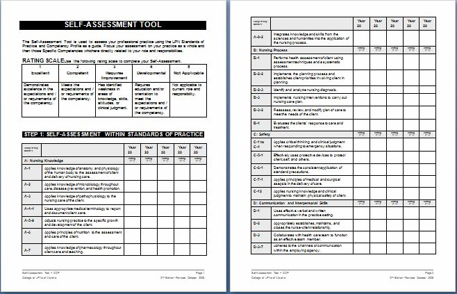 Nursing Schedule Assessment Form Templates | Printable Medical