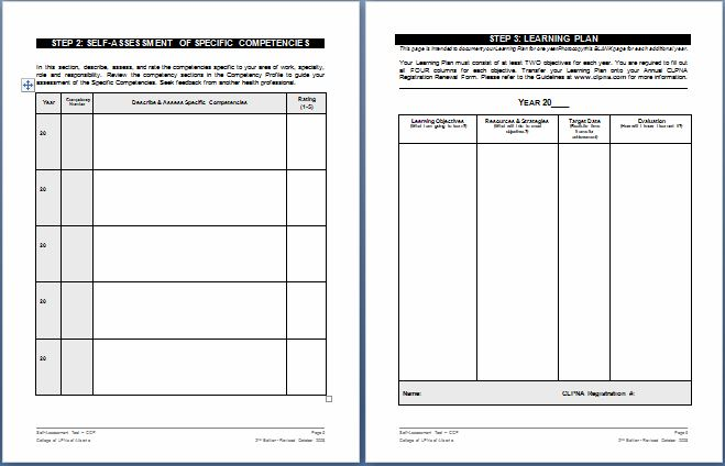 nursing schedule assessment form templates