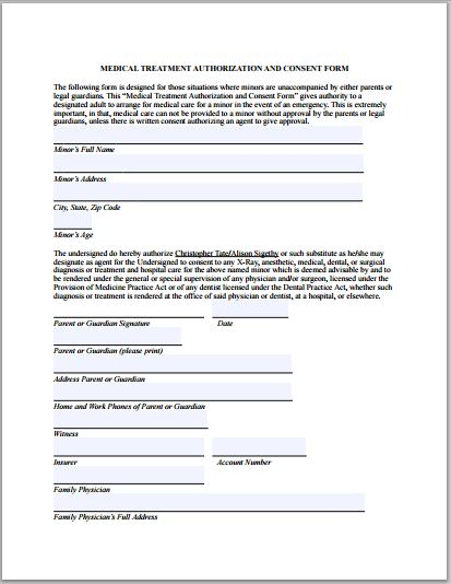 Sample Medical Authorization Form Templates | Printable Medical