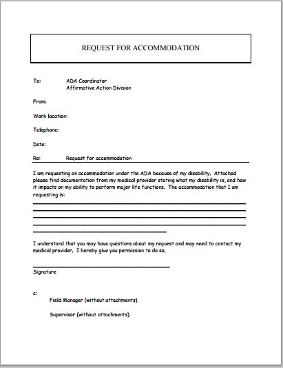 Disability Accommodation Request Form