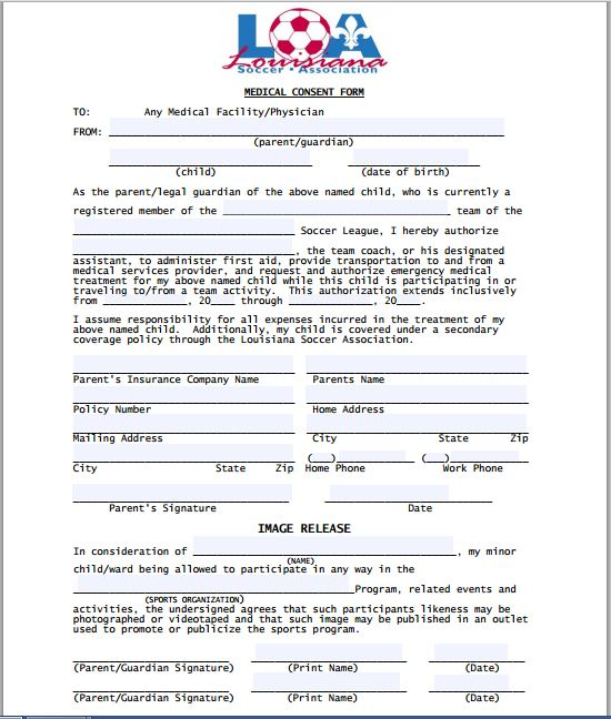 Sample Medical Consent Form – Sample Medical Consent Form