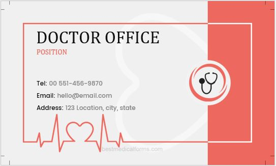 Doctor office label template