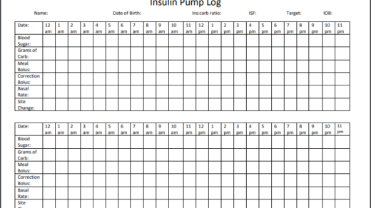 Insulin pump log template