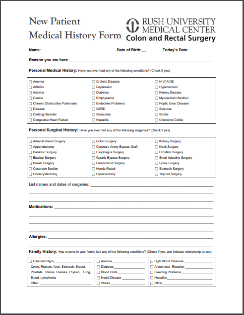 picture about Free Printable Medical History Forms called Absolutely free Printable Clinical Background Types Printable Healthcare