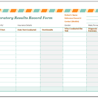 Laboratory results record form