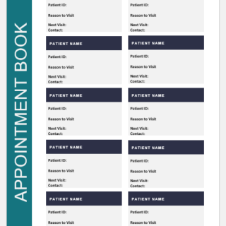 Doctor appointment book template