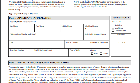 Medical disability form template