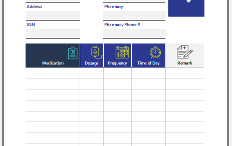 Medication log for multiple people