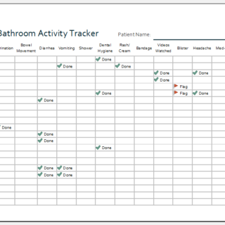 Bathroom activity tracker template