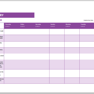 Child sleep diary template