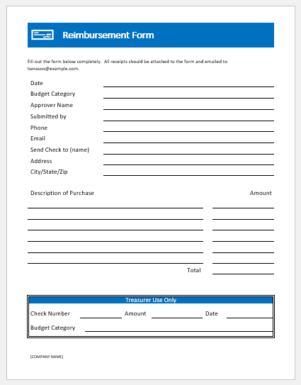 Medical Reimbursement Form